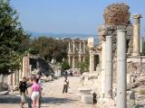Curetes St.. - Ahead, Ephesus's beautiful library building (facade now)