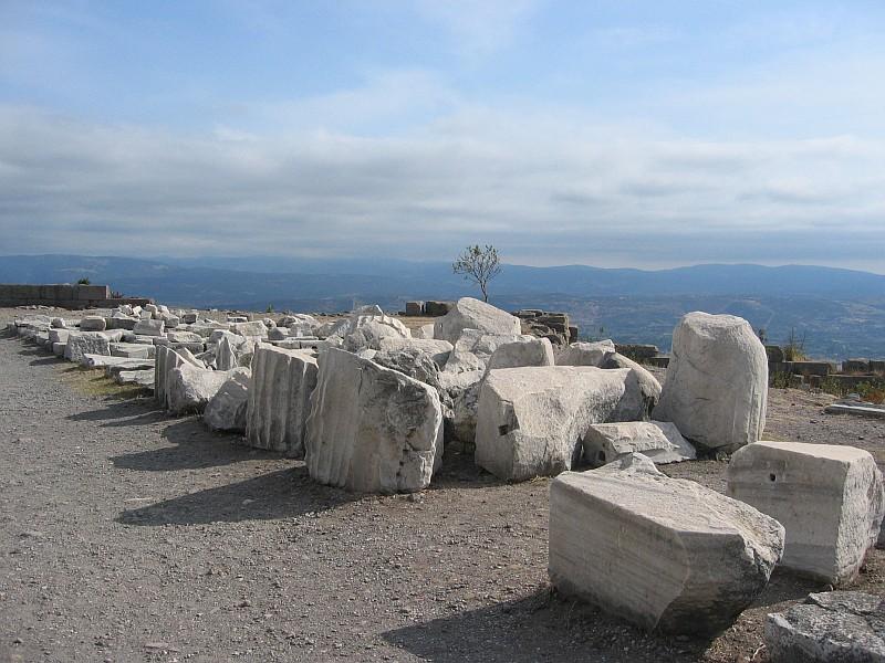 Stones on walkway going back toward Trajan