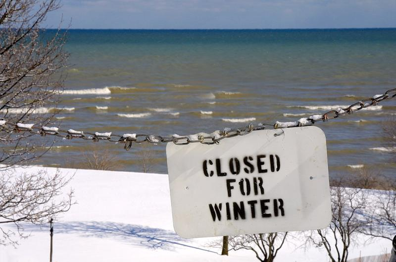 Lake Michigan Closed for Winter
