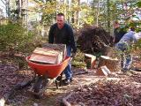help from Larry Austin and his friends, taking firewood to their church friends