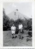 John and Richard playing ball, 1953 (29)