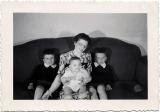 Mom with Jim, Bob and Richard, 1945 (410)