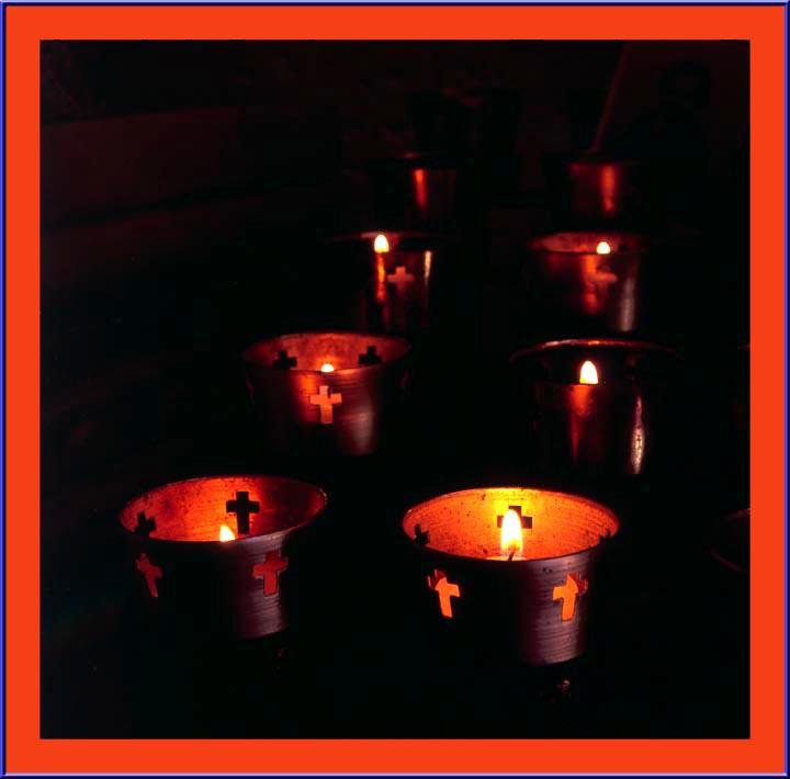 Candles Glimmer the Santa Isabel Mission