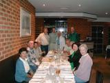 The group at the last dinner of our tour