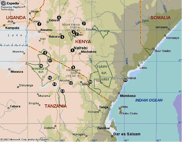Kenya & Tanzania Itinerary