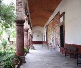 The courtyard with mural of David Leonardo