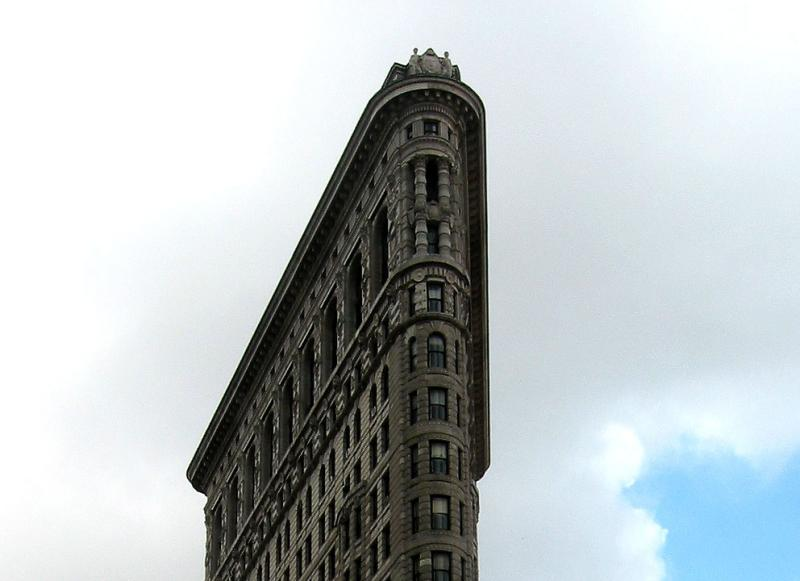 Flat Iron Building at 23rd & Broadway - Detail