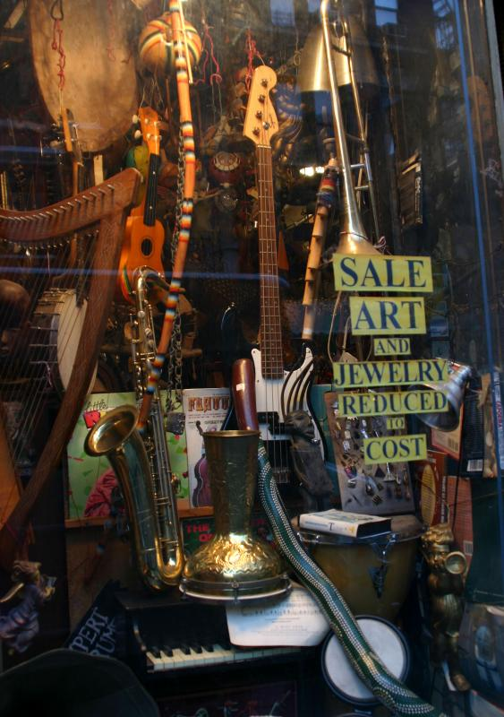 Musical Instrument and Art Store on West 4th Street near 6th Avenue