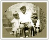 Ivan Szaryj and grand-daughters Ania and Magda