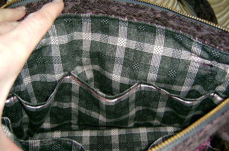 Close Up Inside Mauve Purse