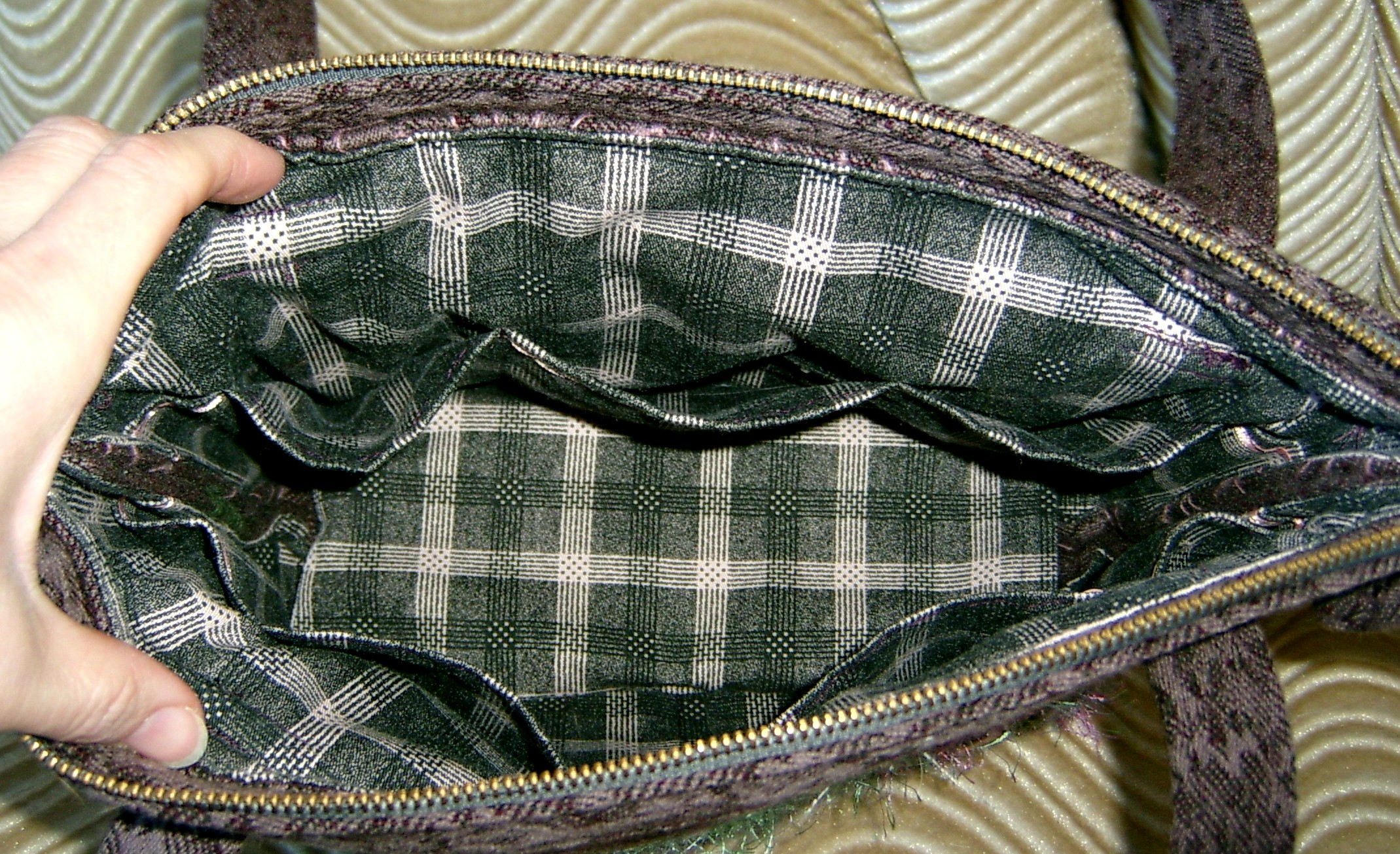 Inside Mauve Purse