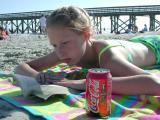 Sarah takes a beach break  03/24/2002