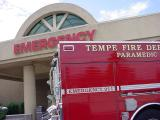 Tempe fire dapartment  at the hospital on Mill