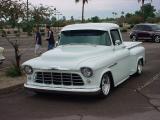white custom truck