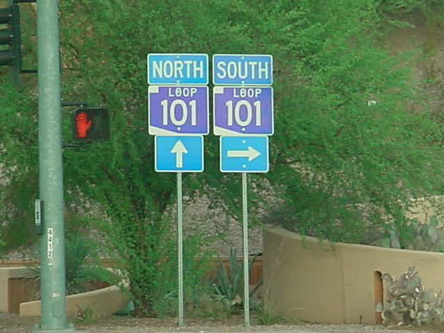 101 North <br> 101 South <br> westbound on McDowell