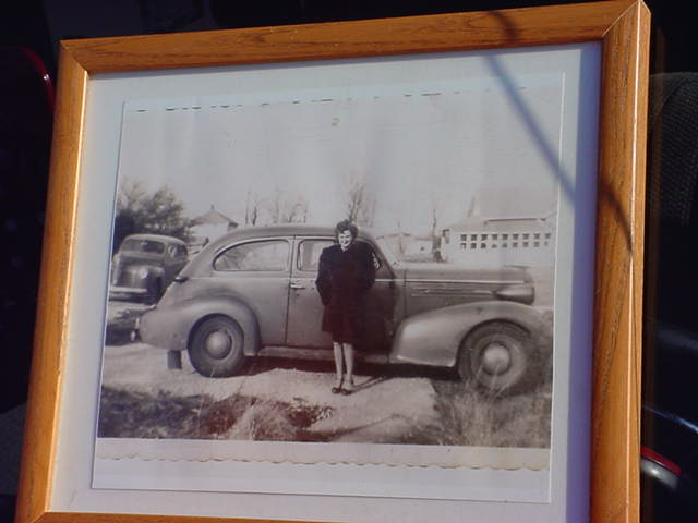 Garys mom 1940s<br>1940s Plymouth<br>left background