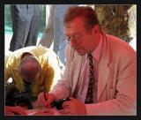 Wroclaw  Krzysztof Zanussi passe à la télé