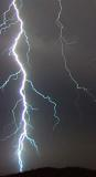Close-up of Lightning through Clouds