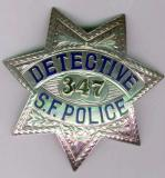 very rare sterling detective badge from the 1930's this rank was replaced with the title inspector