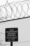 Welcome sign at local prison