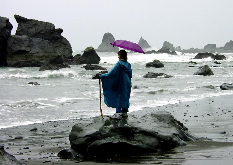 Rainy Day at the Shore by CindyD