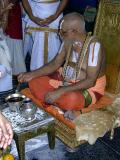 Swamy offering ShreepAda theertham to devotees-1
