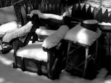 snow cushioned chairs