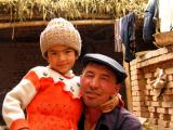 Farmer and his daughter near Kashgar