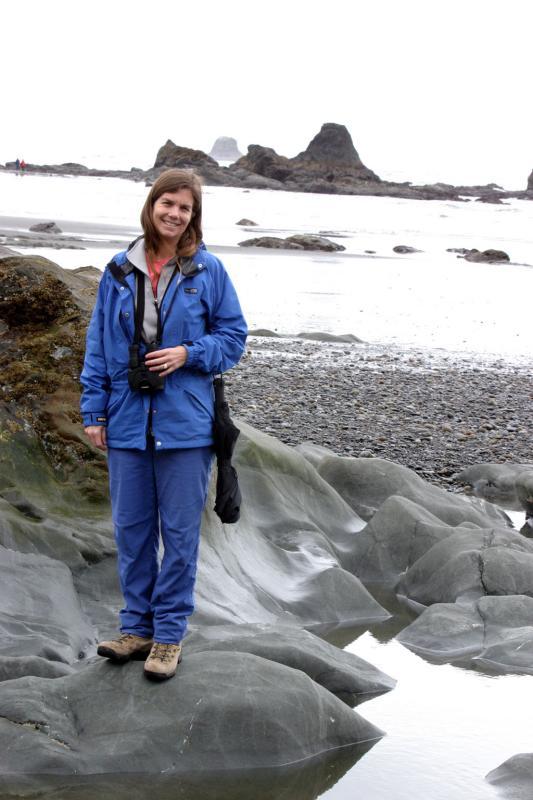 Cynthia loving the rocks
