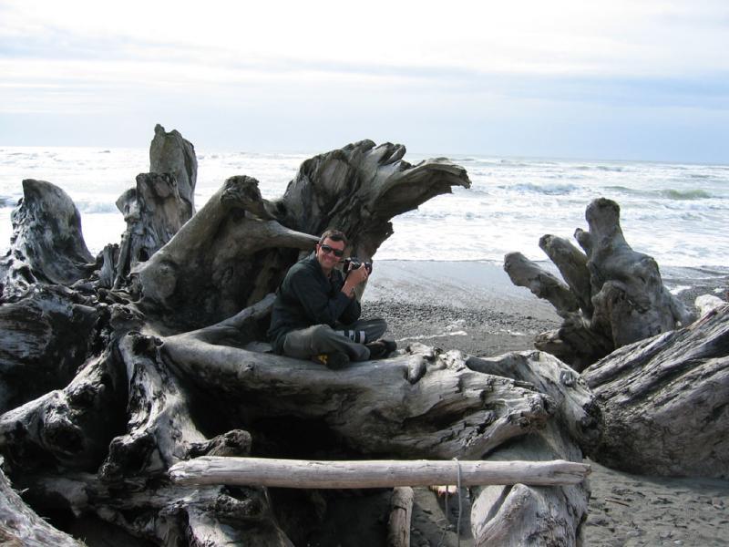 Jim loving the driftwood