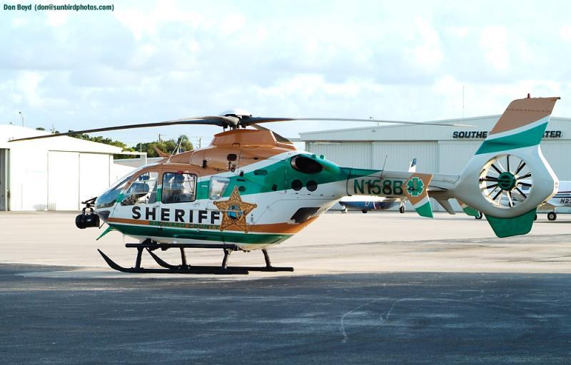 Broward Sheriffs Office (BSO) Eurocopter EC135-P1 N158BC law enforcement aviation stock photo.