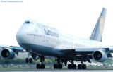 Lufthansa B747-430 D-ABVO at Miami International Airport aviation stock photo