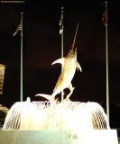 Swordfish sculpture and fountain stock photo.jpg