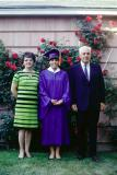 Mary with Mom and Dad at graduation, 1968 (657)