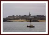 Saint-Malo, in the distance...