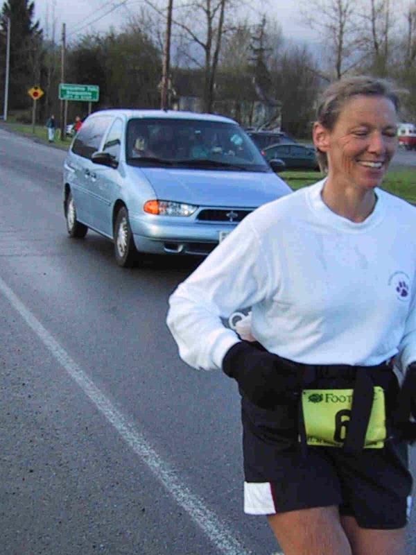 Cheri Gillis (3rd woman, ran Yakima Canyon Marathon last week)