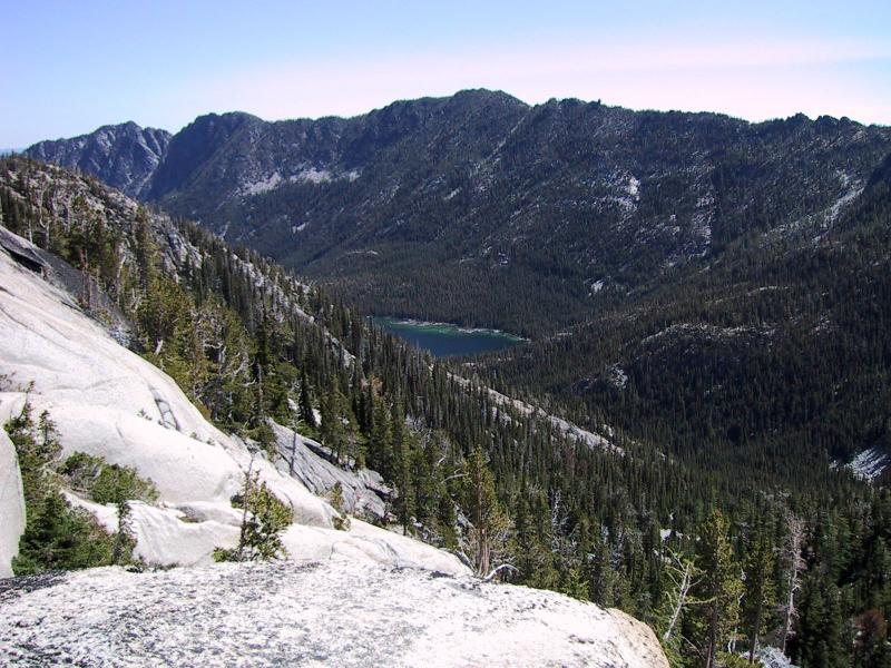 View from the ascent from Snow Lakes - facing east