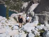 Climbing up to the Upper Enchantment Lakes
