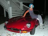 Sarah poses on Halloween night  -  10/31/2002