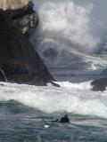 Just paddle out and turn around and raise,