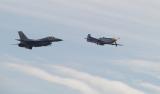 Heritage flight, F-16 and P-51