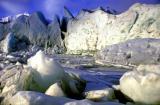 Within a glacier