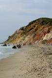 The beach along the Gay Head cliffs in Aquinnah.