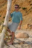 John on the beach at Aquinnah.