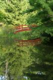 Footbridge over a small pond in Mytoi Garden.