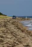 Fishing along the beach and sand road along the south coast of Chappaquiddick.