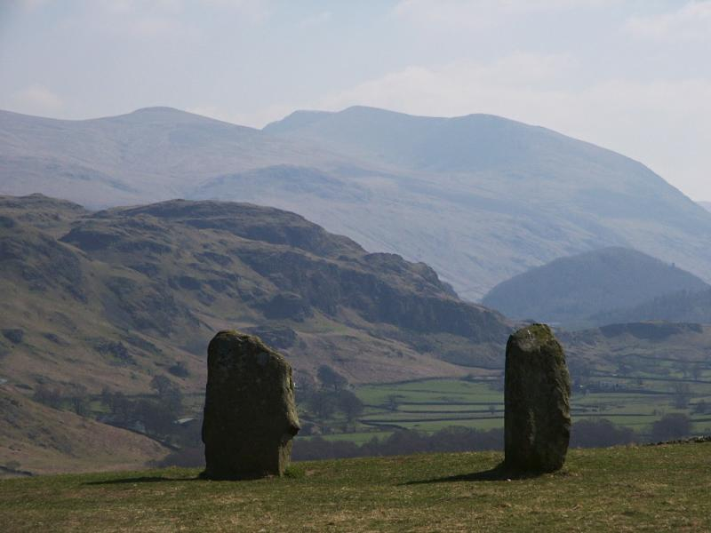 Helvellyn from Castlerigg stone circle