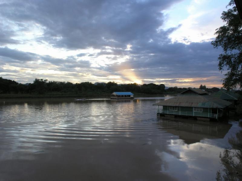 Rafting at Sunset