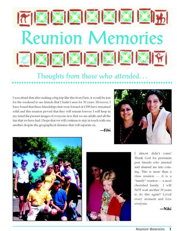 Reunion Memories
