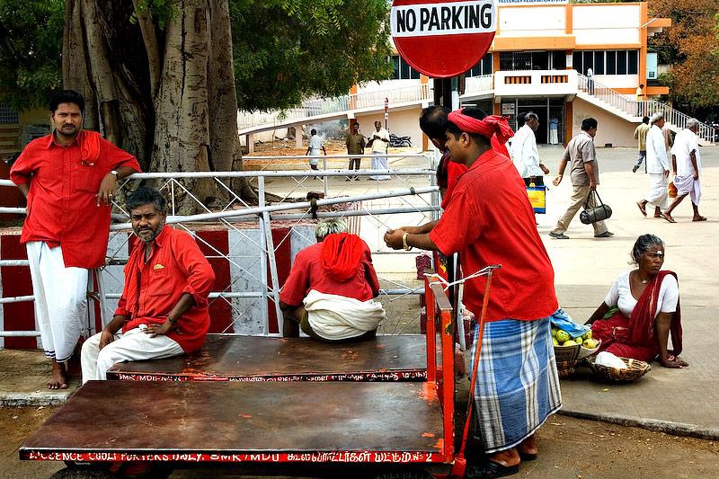 Waiting porters .....
